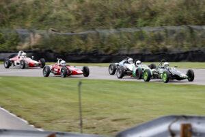 Inför målgång i race 2, Falkenberg Classic